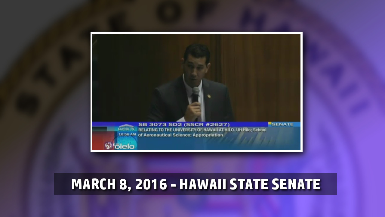 VIDEO: UH-Hilo School of Aviation Bill Passes Senate