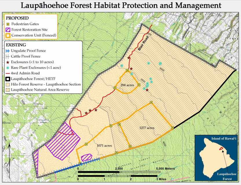 from Draft Environmental Assessment for the Laupāhoehoe Forest Management Plan