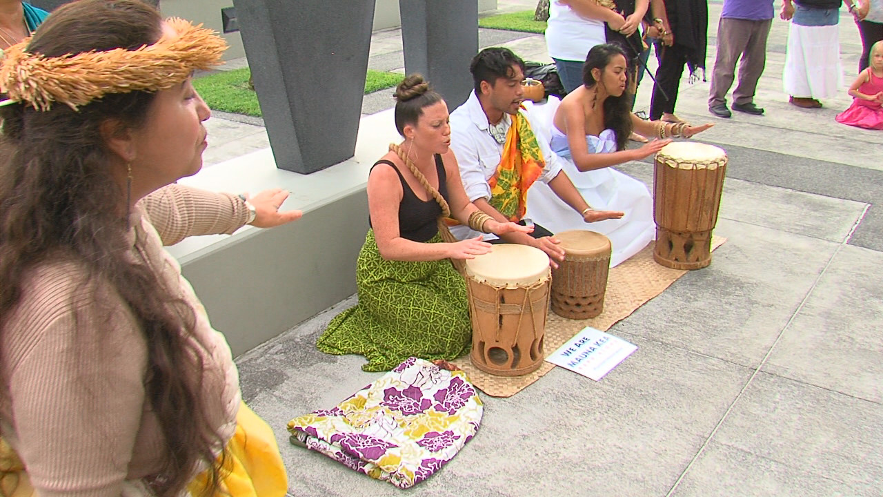 Ceremony held outside Hilo courthouse on March 11, 2016.