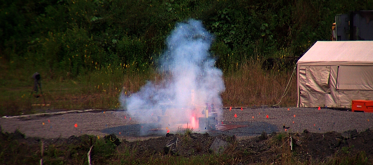 VIDEO: Rocket Engine Firing Test Blasts Keaau Lunar Landing Pad