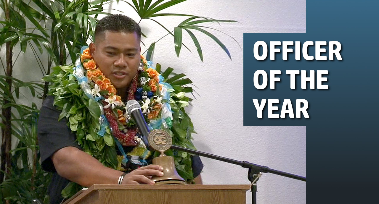 "VIDEO: Ryan Pagan Named ""Officer of the Year"""