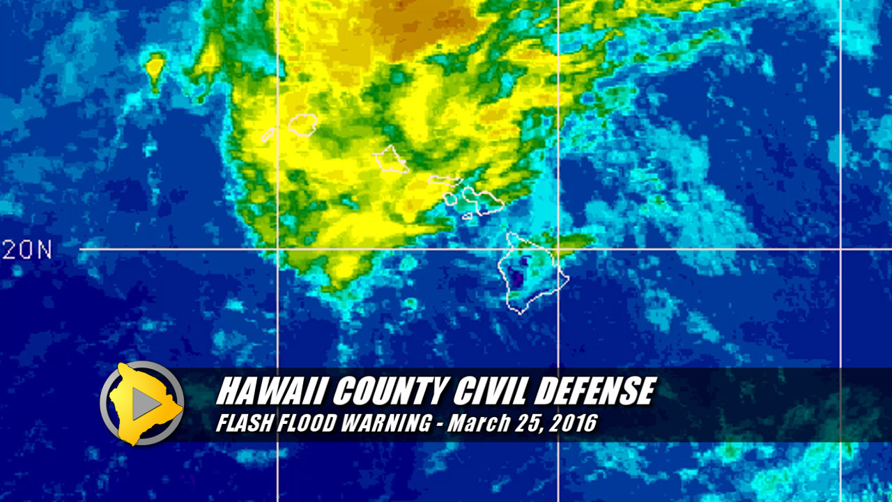Highway 19 Closed In Hamakua, Flash Flood Warning In Effect