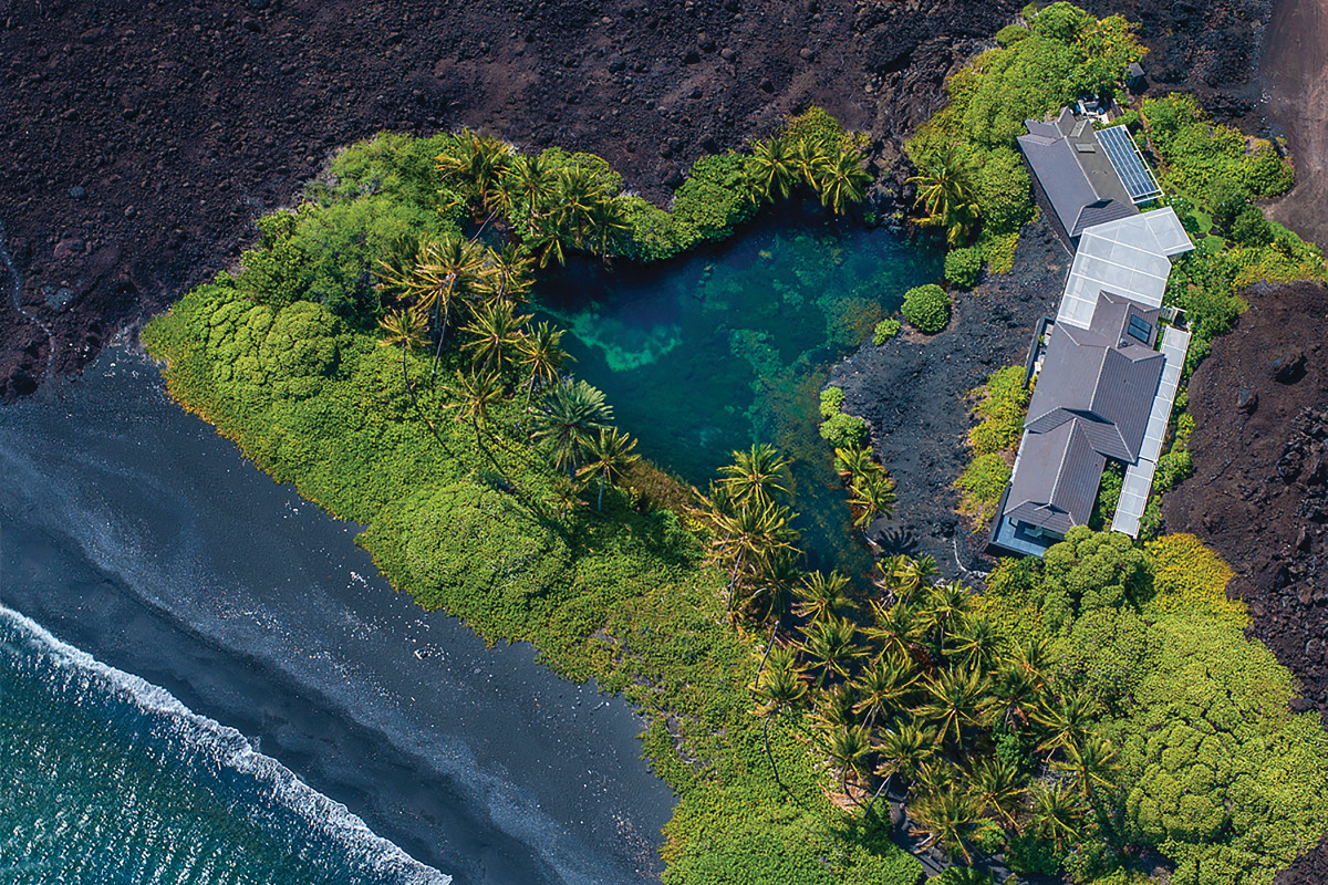 The 2.5 acre Luahinewai seen from above, photo courtesy MacArthur Sotheby's International Realty