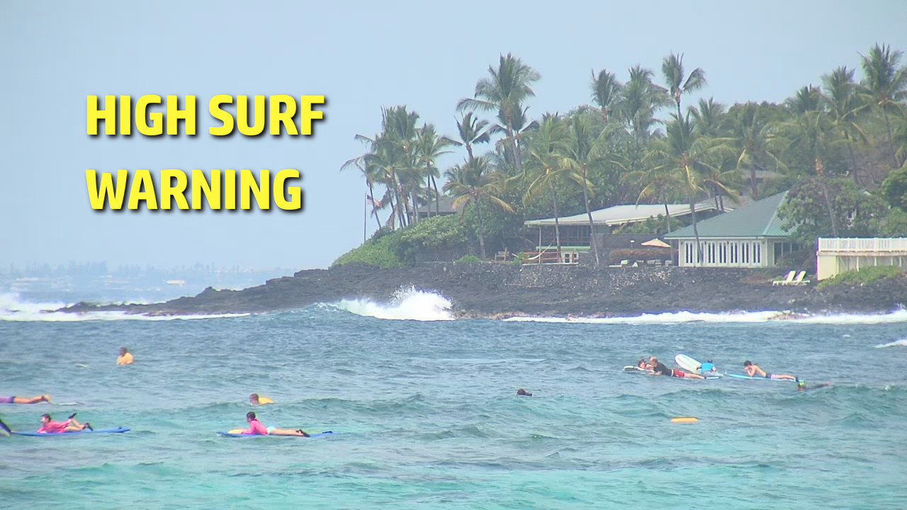 Kona High Surf Warning Update: More Beach Closures