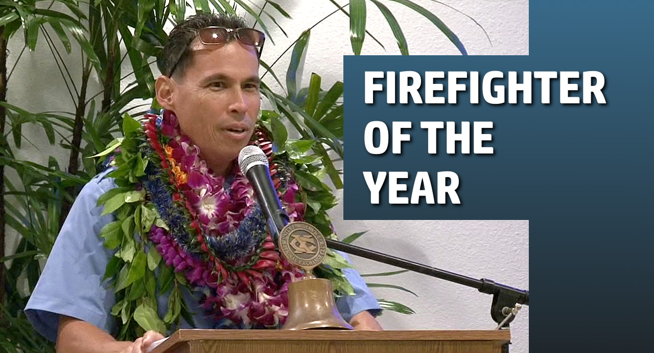 "VIDEO: Captain Garrett Kim Is ""Fire Fighter of the Year"""