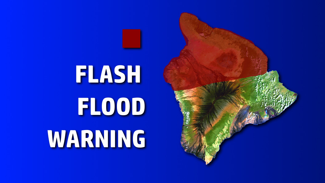 Flash Flood Warning In Effect For Hawaii Island