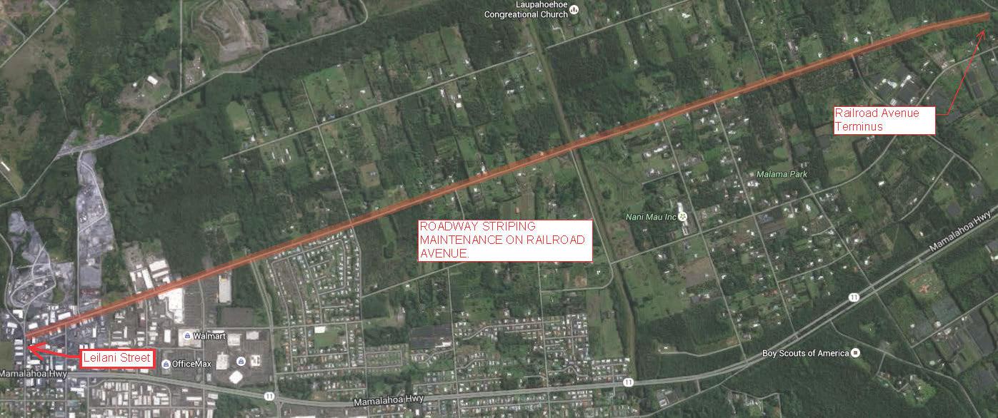 Railroad Avenue Striping Begins Monday, May 2