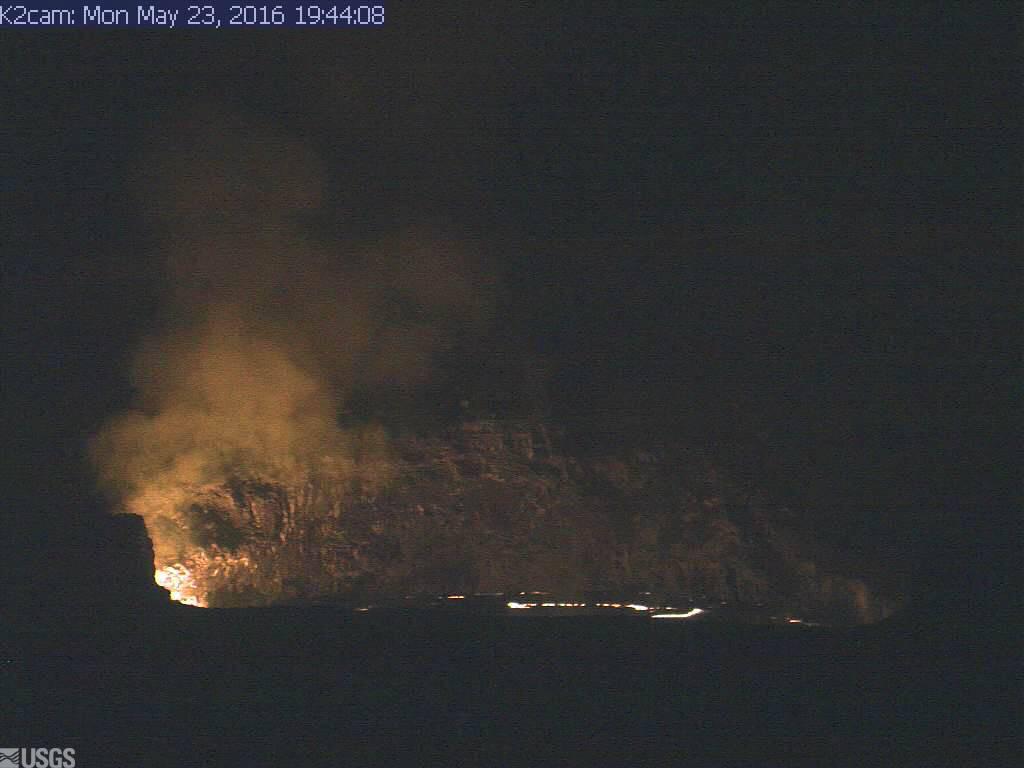 Volcano Update: Lava Lake Rises Into View