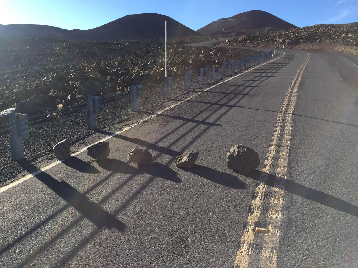 Man Sought After Rocks Placed On Mauna Kea Road