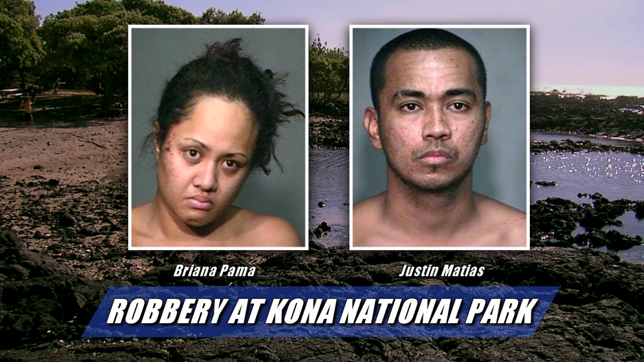 Robbery At Kona National Park, Suspects Caught In Stolen Car