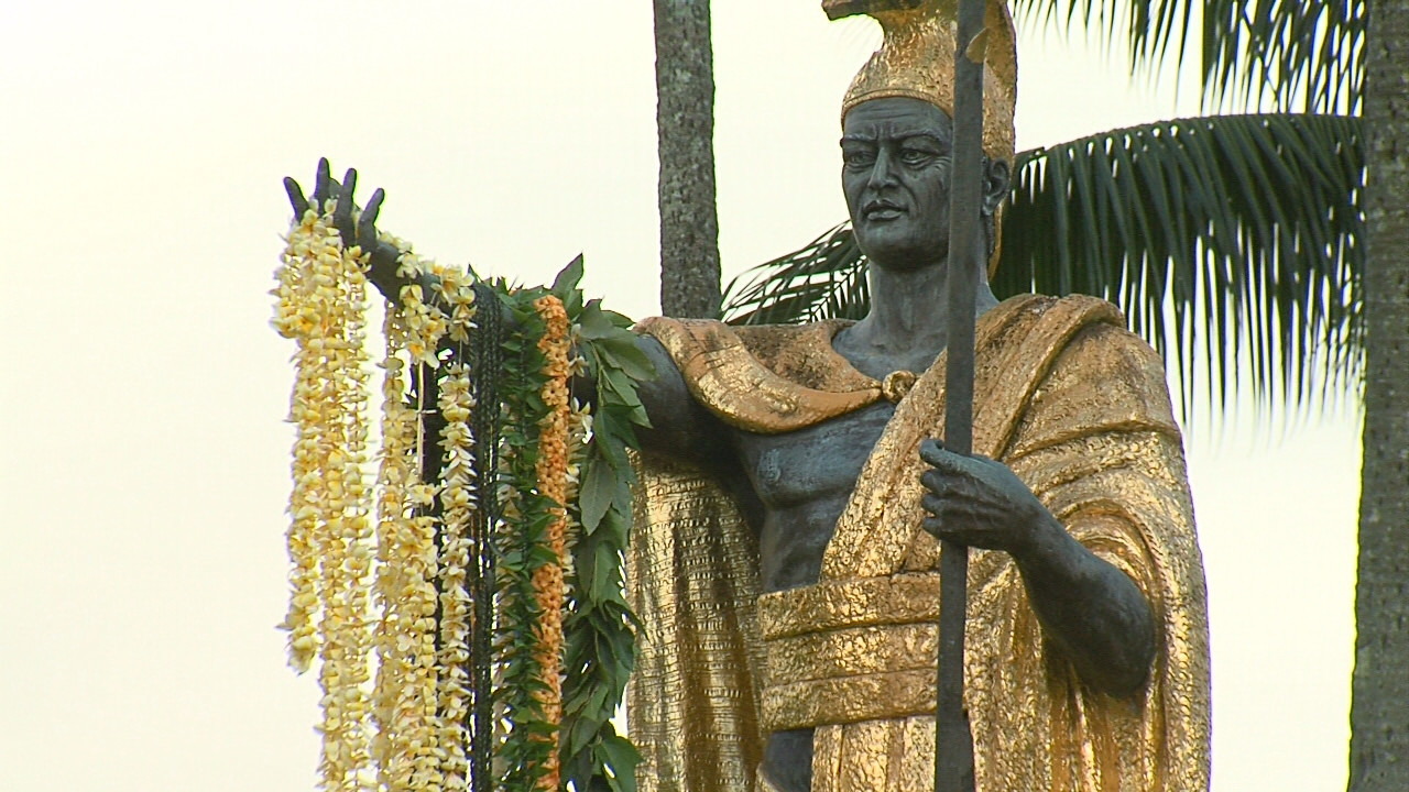 VIDEO: Repaired Statue Celebrated On Kamehameha Day