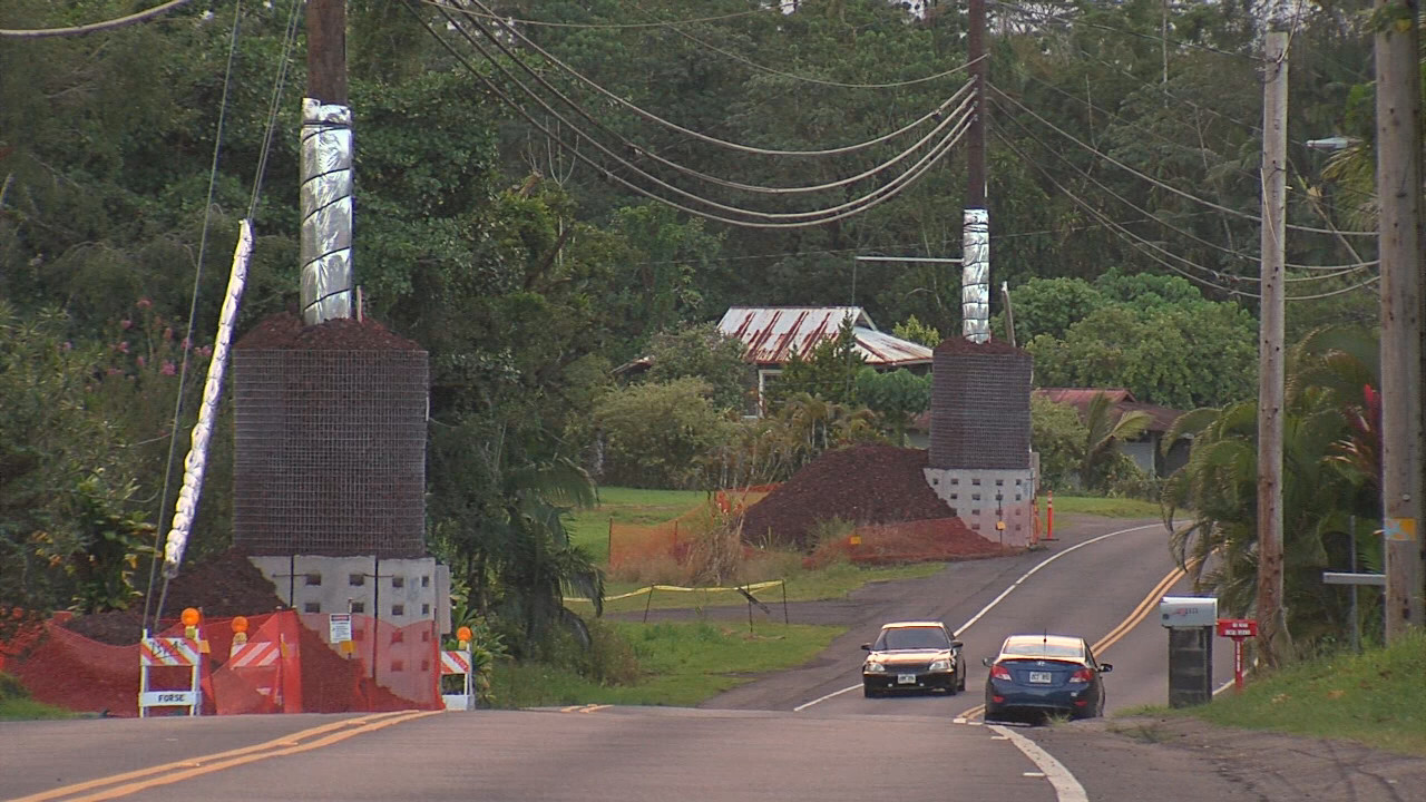 Pahoa Utility Pole Lava Protection To Be Removed