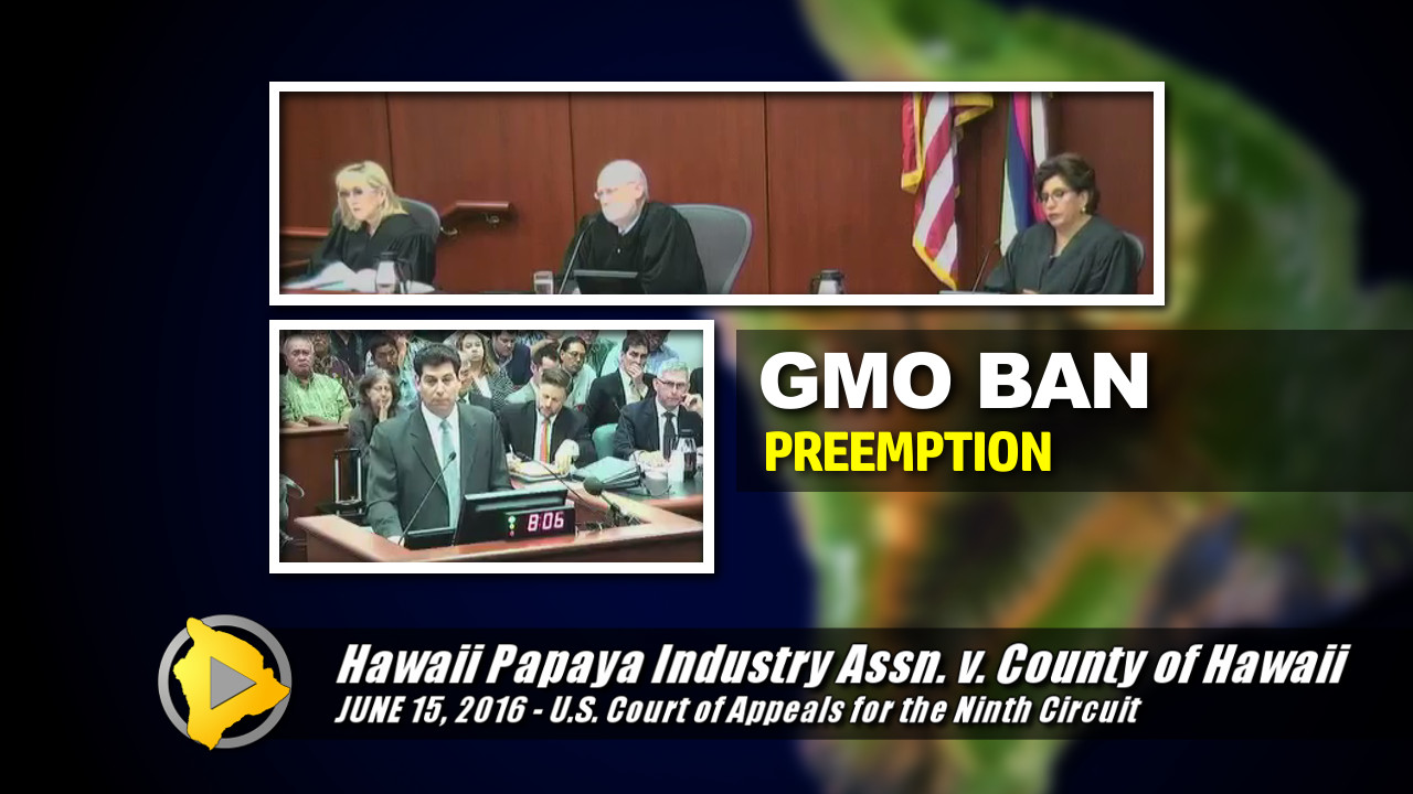 VIDEO: Fight Over Big Island GMO Ban Argued In Federal Court