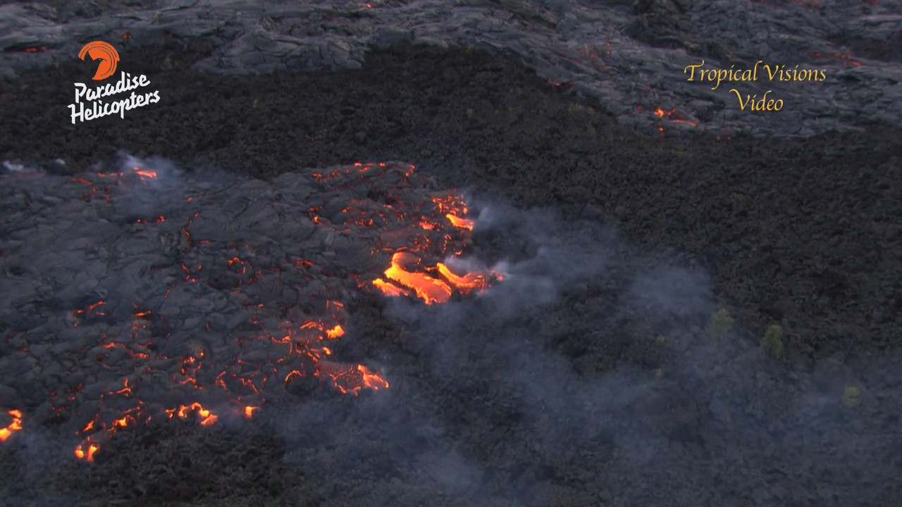 VIDEO: Lava Flow Filmed Approaching Royal Gardens