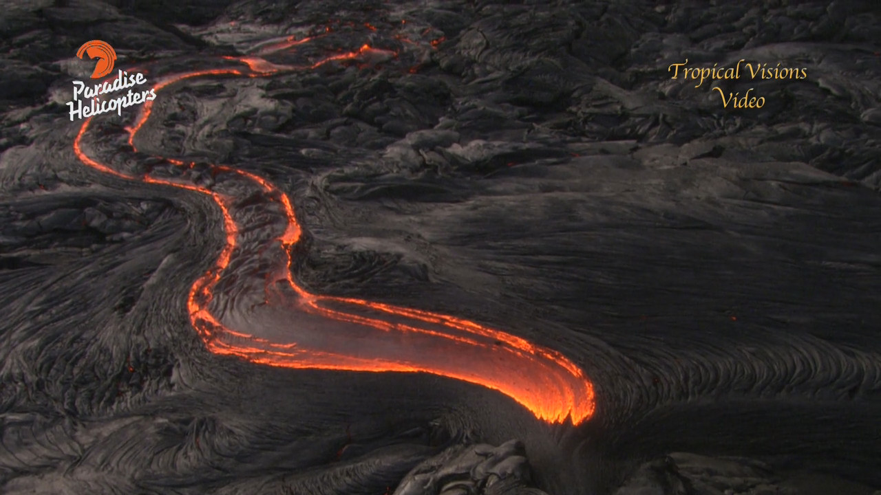 VIDEO: Lava Flow Reaches Pali, Filmed From Above
