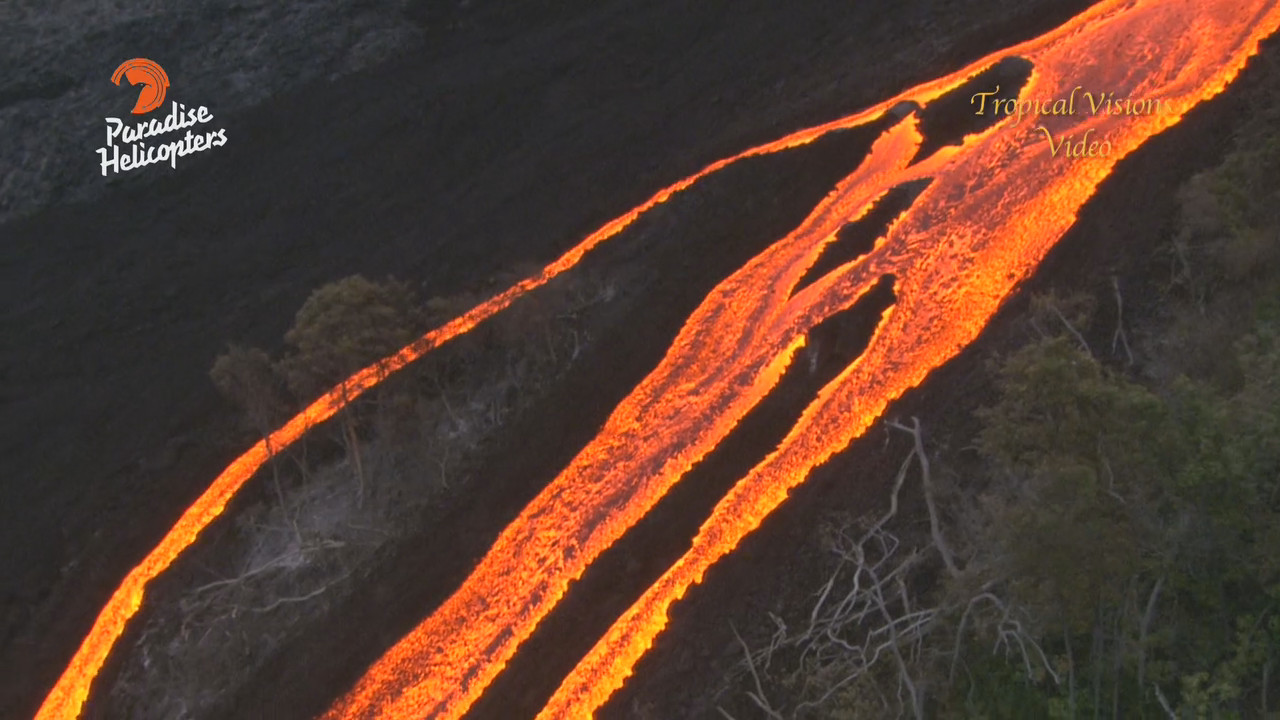 VIDEO: Lava Spectacle Filmed From Above