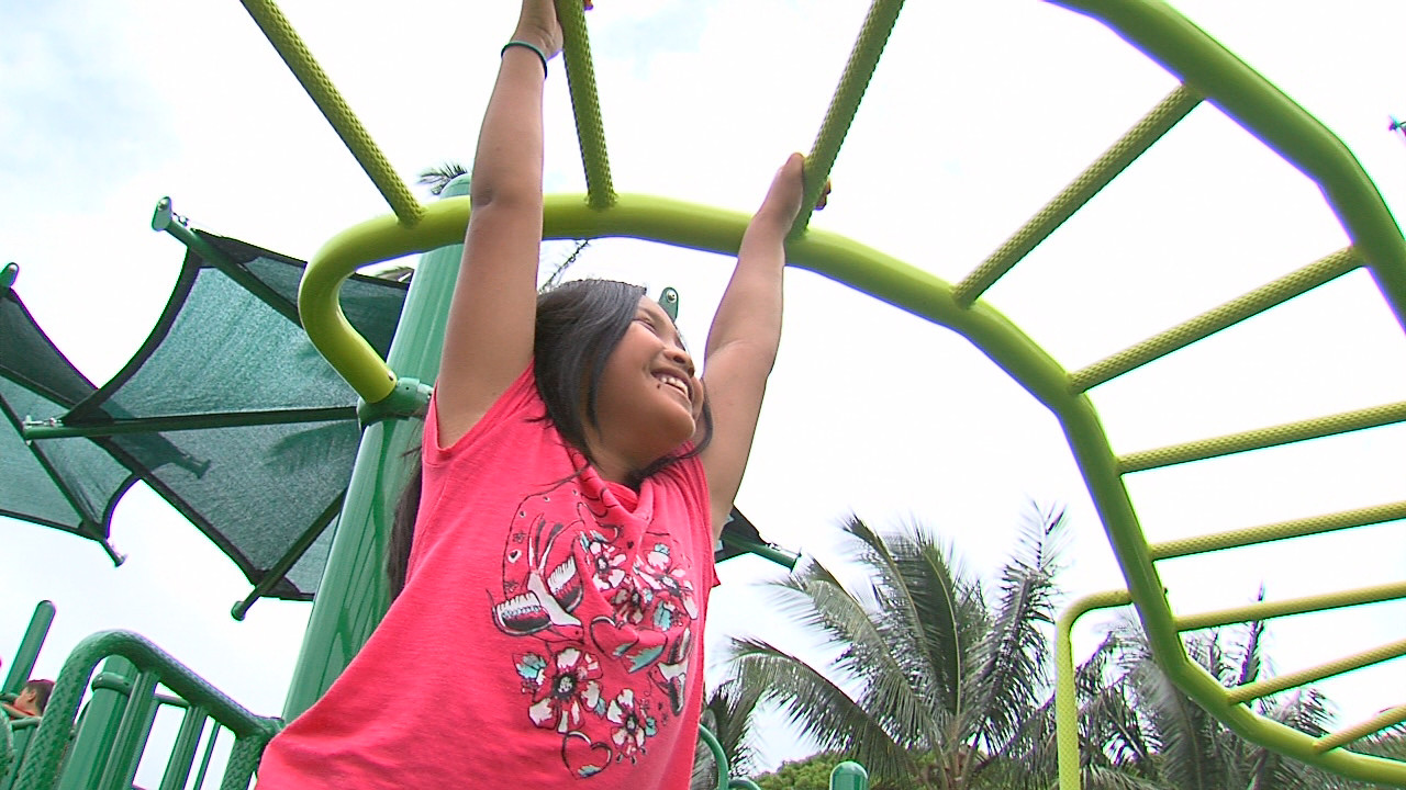 VIDEO: Ka'u Kids Get New Playgrounds