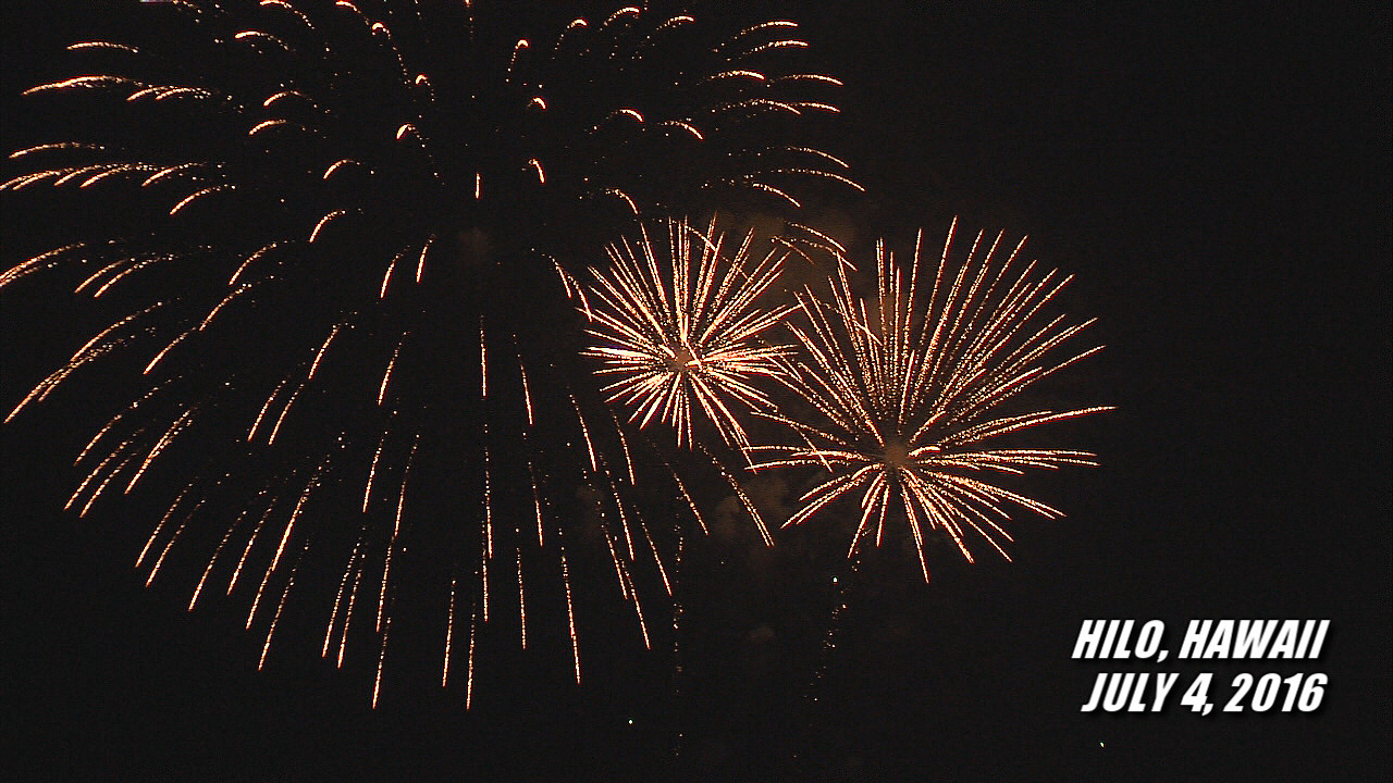 VIDEO: 4th Of July Fireworks Over Hilo Bay