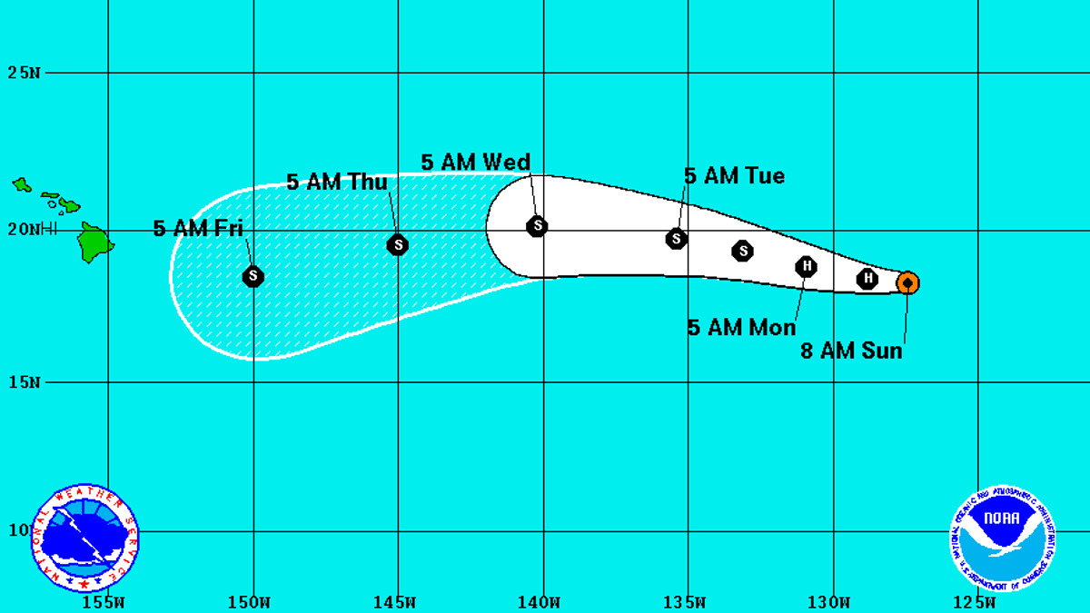 Hurricane Darby To Approach Hawaii As Weak Tropical Storm