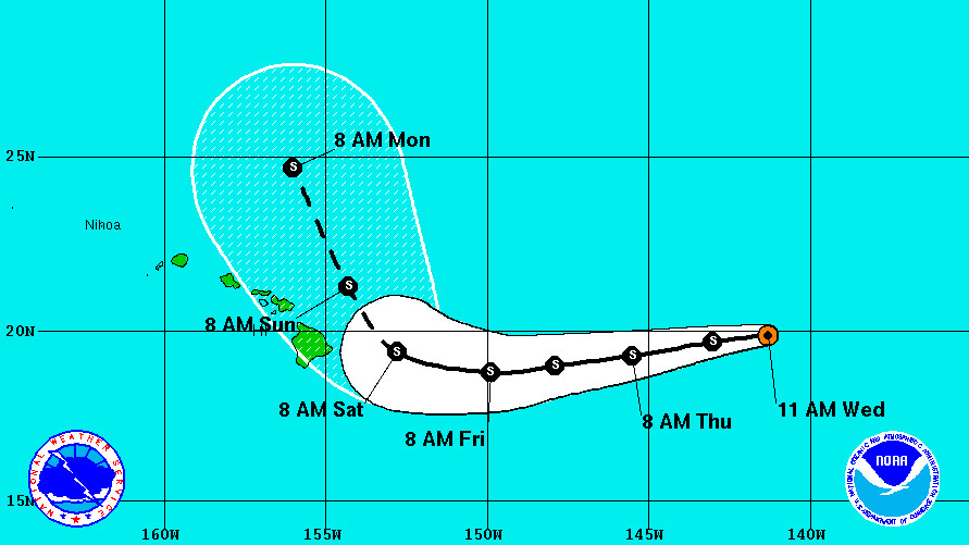Tropical Storm Darby Heads For Hawaii, Could Turn Last Minute