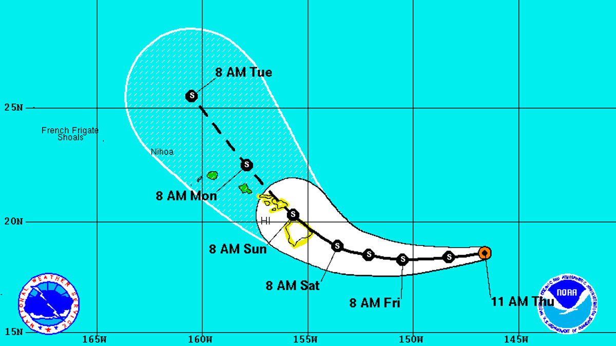 Hawaii On Tropical Storm Watch, Darby Could Be Direct Hit