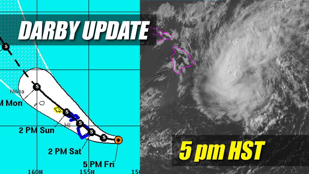 Tropical Storm Warning: Darby Impact On Hawaii Just Hours Away