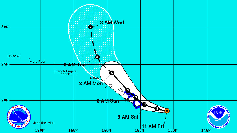 Tropical Storm Darby Maintains Strength On Course For Big Island
