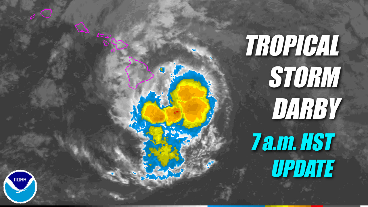 Tropical Storm Darby Weakens But Still Threatening Big Island