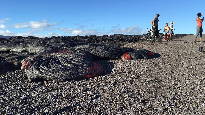 VIDEO: Lava Crosses Coastal Emergency Road In Hawaii