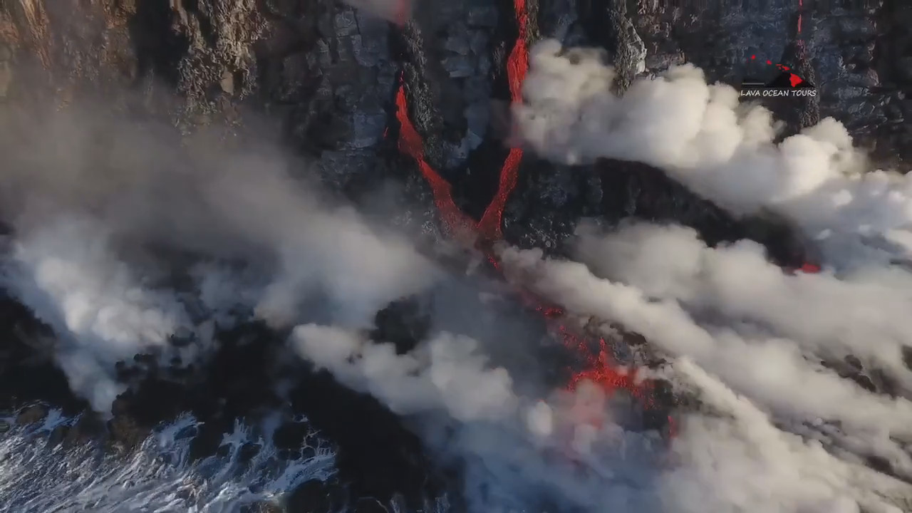 Image from video courtesy Lava Ocean Tours