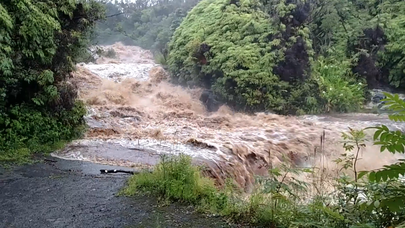 Heavy Rains Soak Hamakua, Swollen Rivers Prompt Rescues