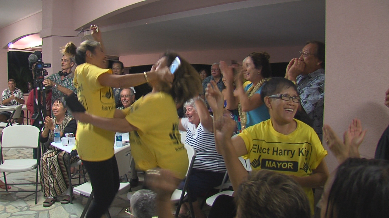VIDEO: Harry Kim Supporters Erupt With Joy