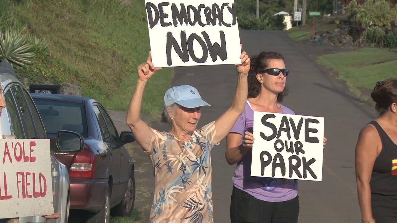 VIDEO: Protests Plague Kukuihaele Park Project