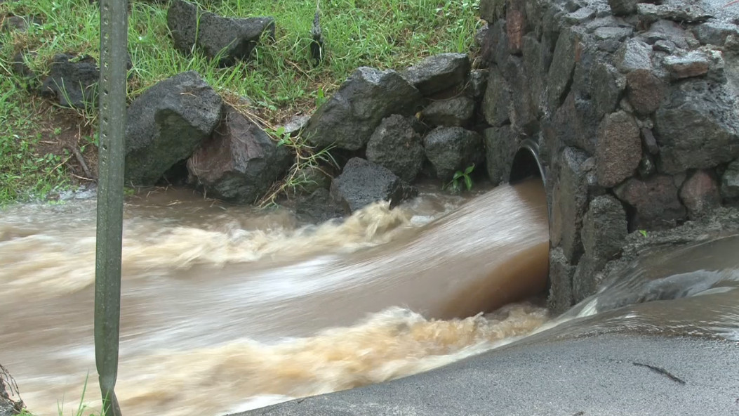 VIDEO: Waimea Gets Soaked, Flood Advisory Continues