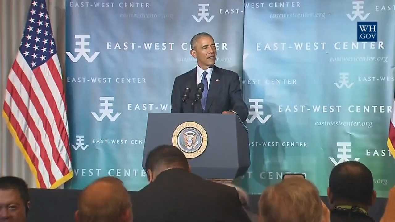 VIDEO: Obama Braves Hurricanes For Hawaii Address