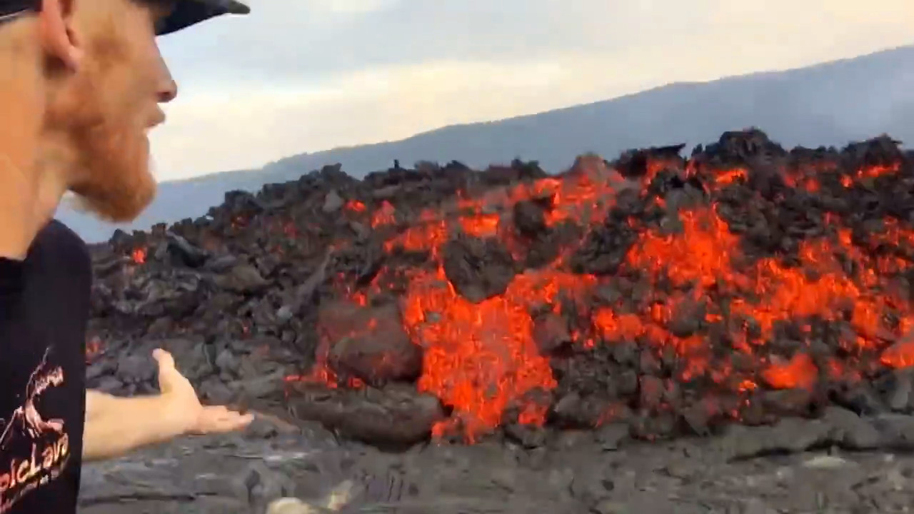 VIDEO: Dramatic Lava Breakouts Filmed
