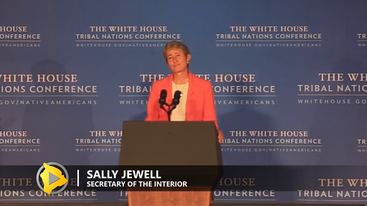 VIDEO: Interior Sec. Jewell Mentions Hawaiians At Tribal Conference