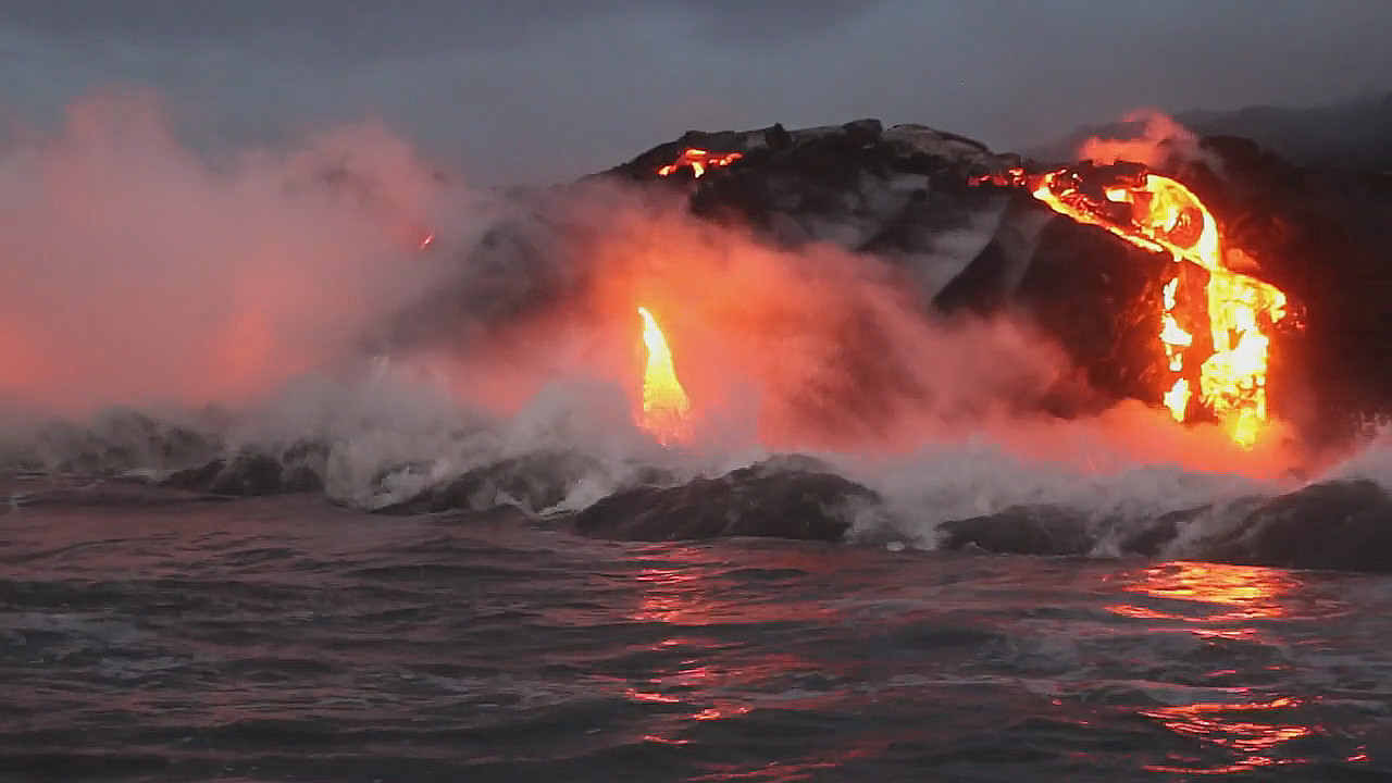 VIDEO: Lava Ocean Entry Continues, Breakouts On Coastal Plain