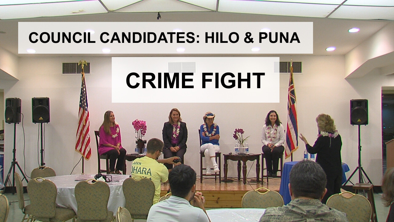 VIDEO: Reducing Crime – Hilo, Puna Council Candidates (11/14)