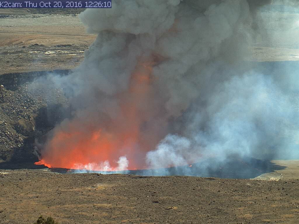 Explosion At Summit Of Kilauea Volcano