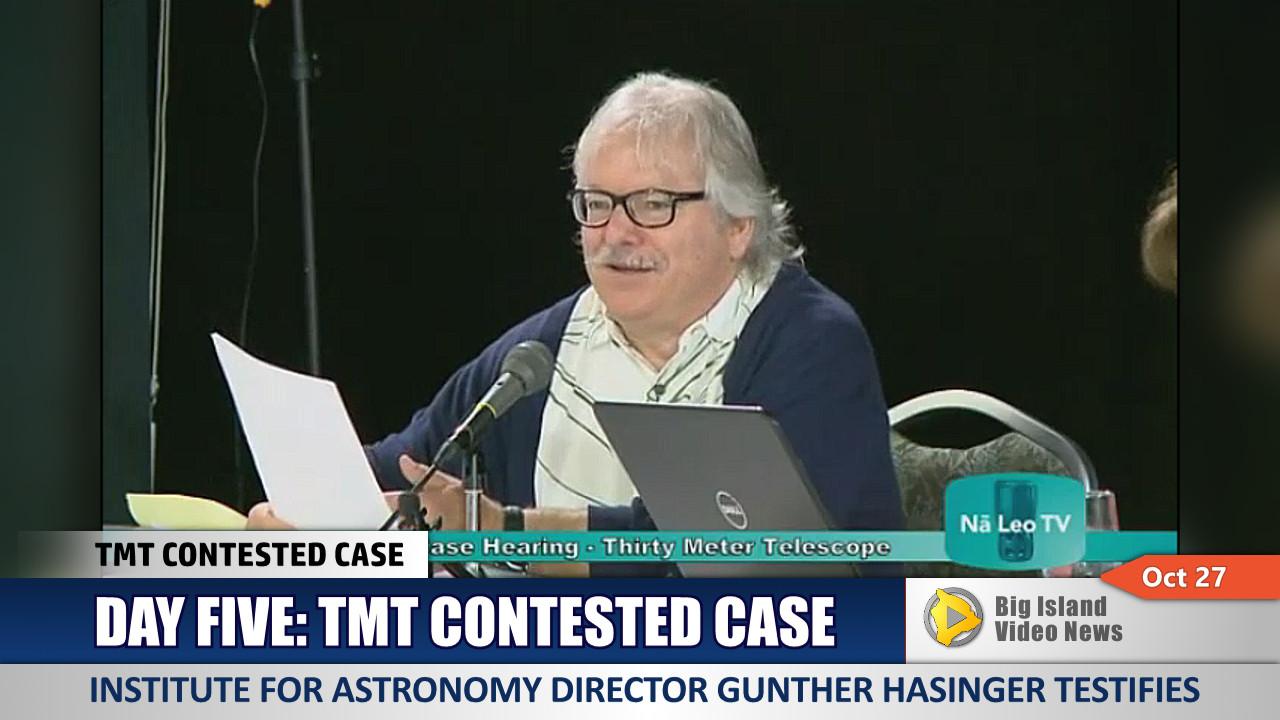 VIDEO: IfA Director Testifes At TMT Hearing