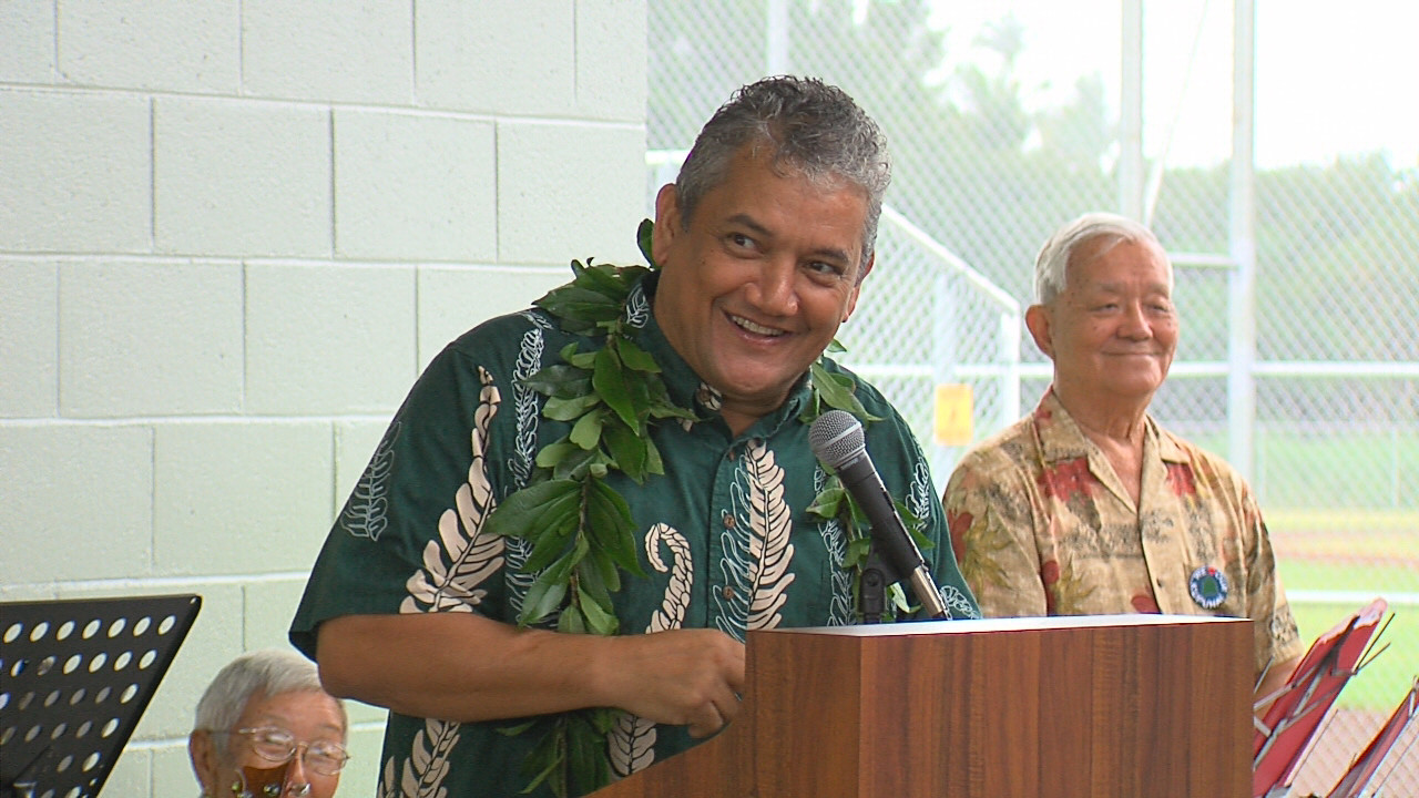 VIDEO: Mayor Kenoi Speaks At Pahoa Park Opening