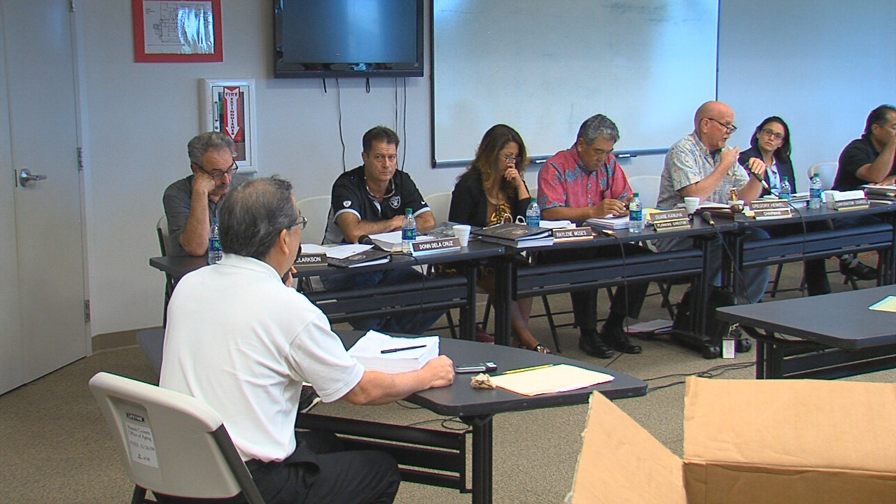Windward Planning Commission meeting in Hilo on Nov. 3, 2016.