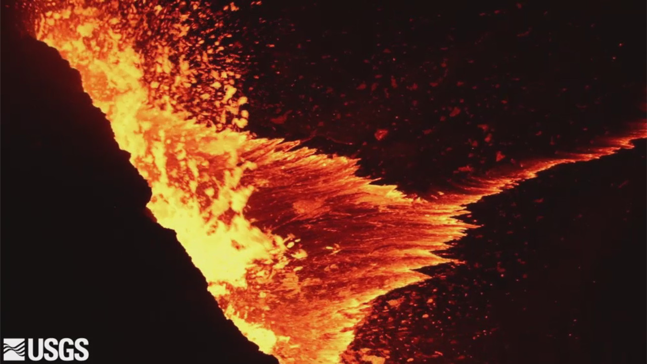 VIDEO: Spattering Lava Lake Level Remains High