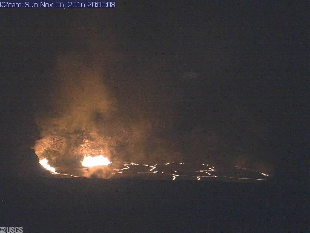 Sunday night webcam view (USGS)