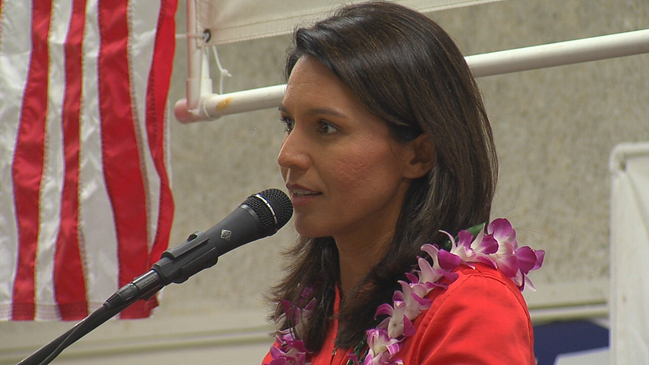 VIDEO: Rep. Gabbard Takes Part In Hilo Rally Tradition