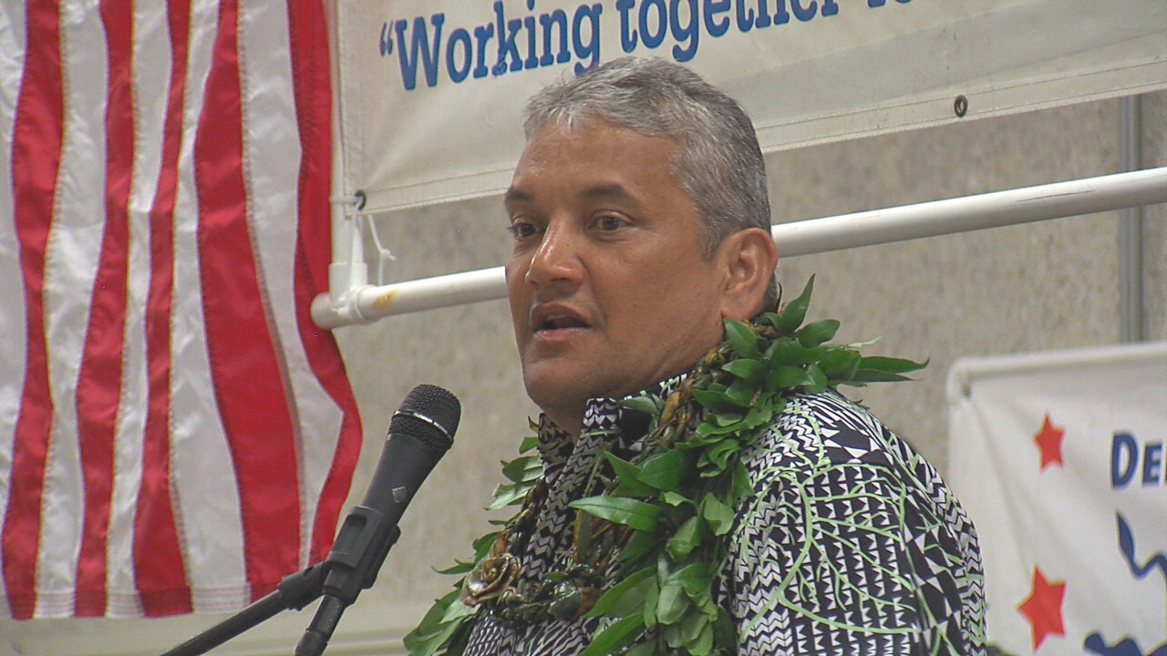 VIDEO: Billy Kenoi Speaks At Democratic Grand Rally
