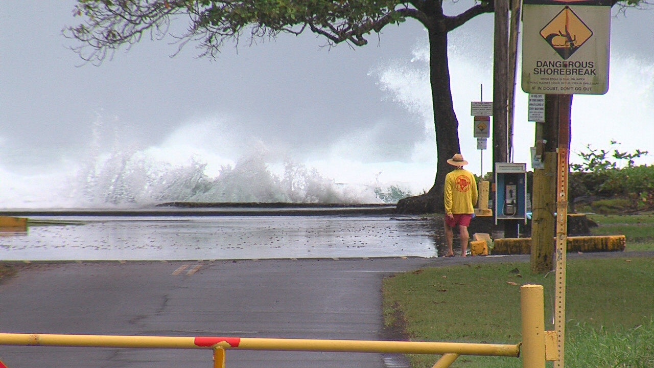 VIDEO: Beaches Closed Due To High, Pounding Surf