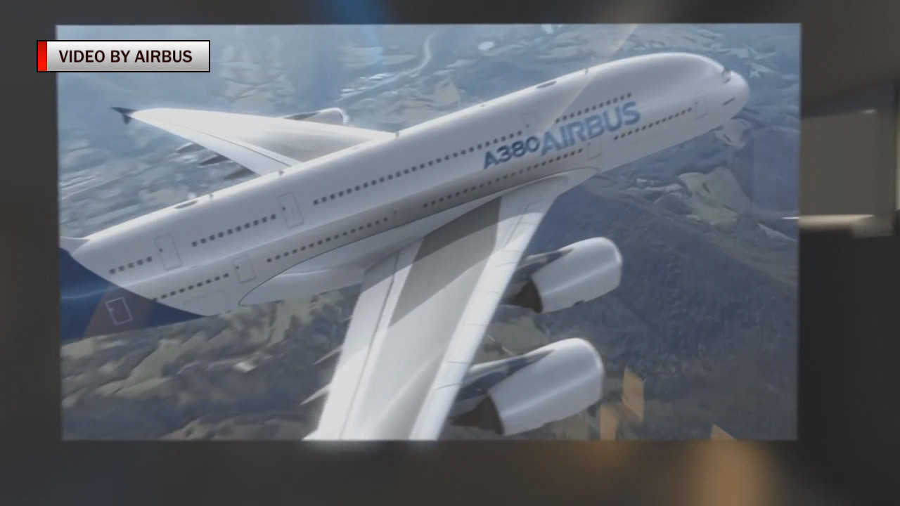 A look at the Airbus A380, which could be headed to Hawaii soon. (image from video by Airbus)