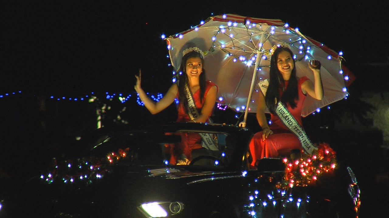 The 2016 Hilo Christmas Light Parade featured a number of local pageant winners.
